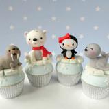 Winter Animal Cupcakes