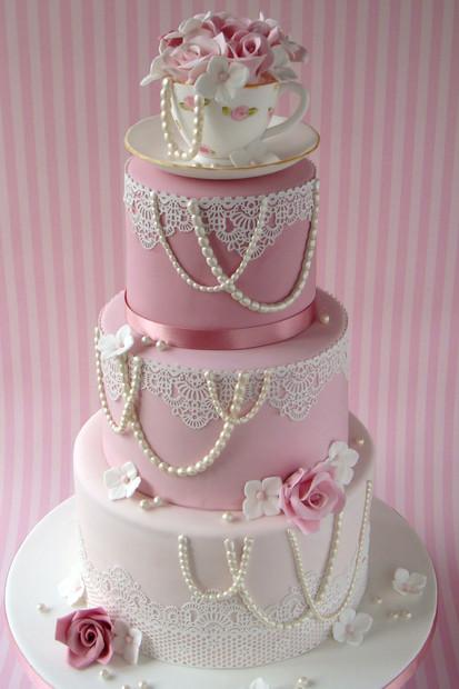 Vintage Teacup Wedding Cake