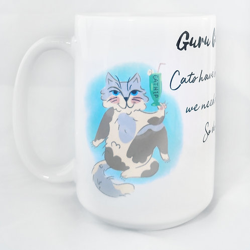 """Cat's have boundaries, we need me-time. So do you!"" Quote - Guru Cat Mug"