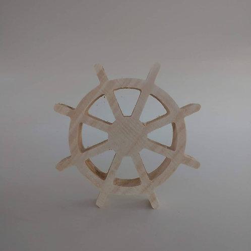 Aplique 3D: Leme 15 cm. Madeira Pinus