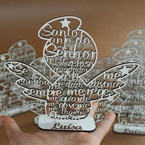 Escultura Santo Anjo do Senhor. Laminado branco