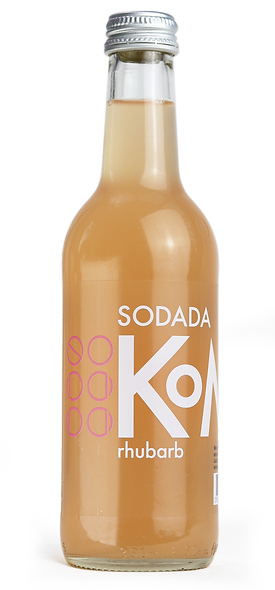 Sodada Double Fermentation Rhubarb Kombucha (12 x 330ml)