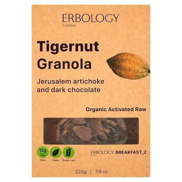 Erbology Organic Tiger Nut Granola - Jerusalem Artichokes & Cacao (pack of 3)