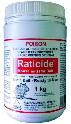 Raticide (Mouse & Rat) Poison 1kg