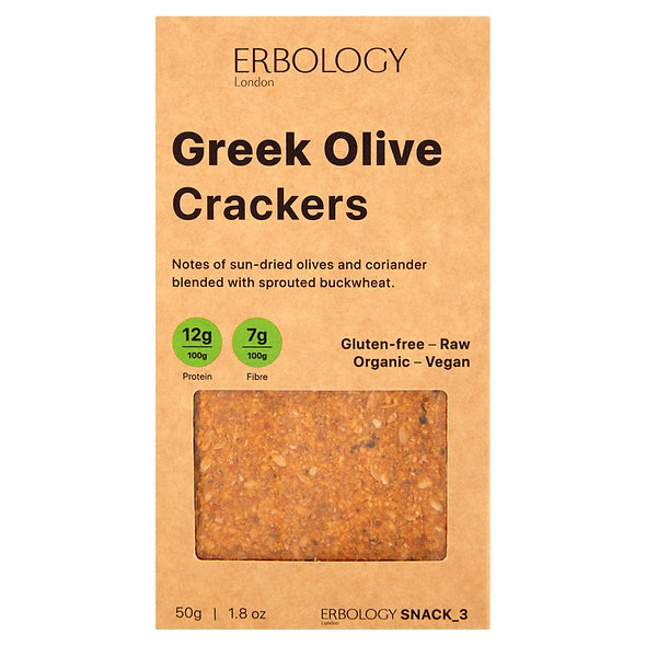 Erbology Organic Greek Olive Crackers (pack of 12)