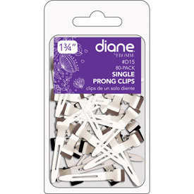 Diane Single Prong Clips, 80 Pack
