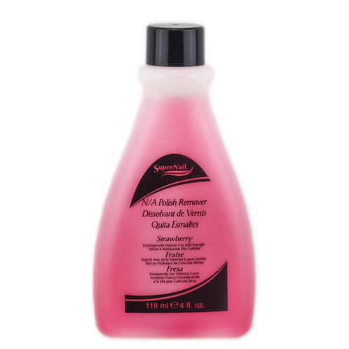 Super Nail N/A Polish Remover 4 oz strawberry