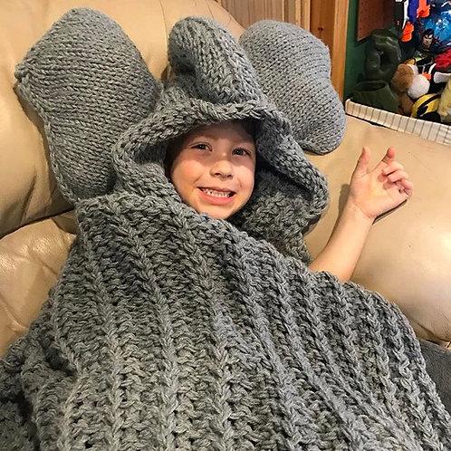 Hooded Elephant Blanket Pattern