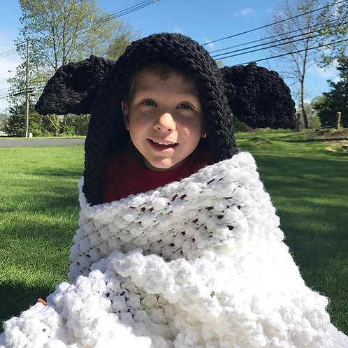 Hooded Sheep Blanket Pattern