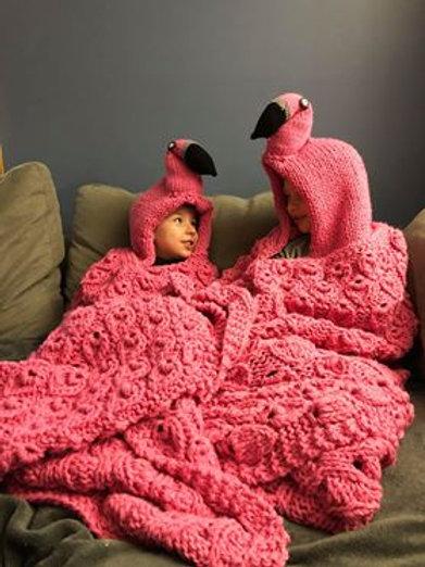 Hooded Flamingo Blanket Pattern