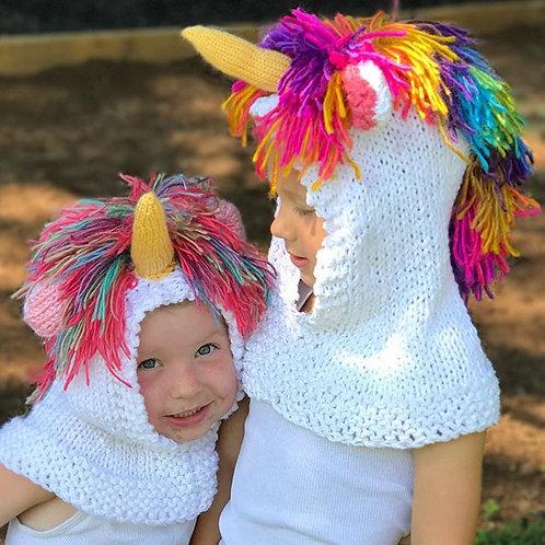 Hooded Unicorn Hat Pattern