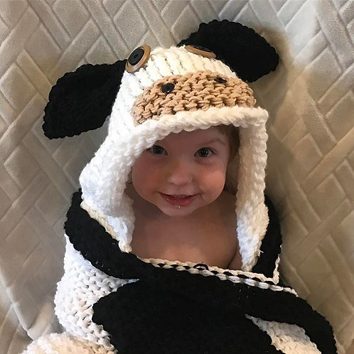 Hooded Cow Blanket Pattern