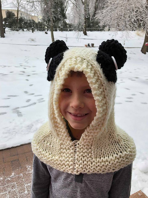 Hooded Panda Hat Pattern