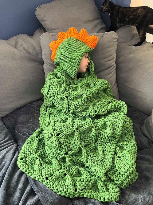 Hooded Dinosaur Blanket Pattern