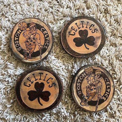 Boston Celtics Wooden Coaster