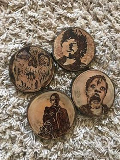 Walking Dead Wooden Coasters