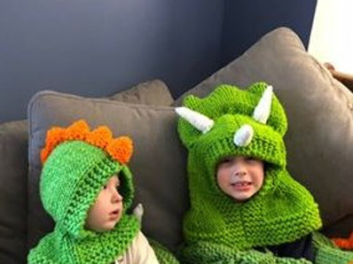 Hooded Dinosaur Hat Pattern