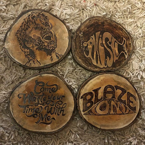 Phish Wooden Coaster