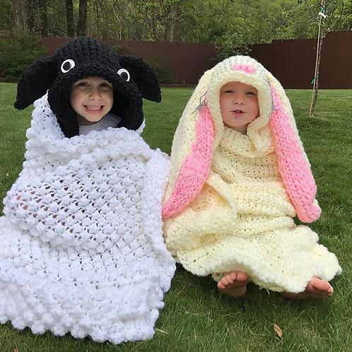 Hooded Bunny Blanket Pattern