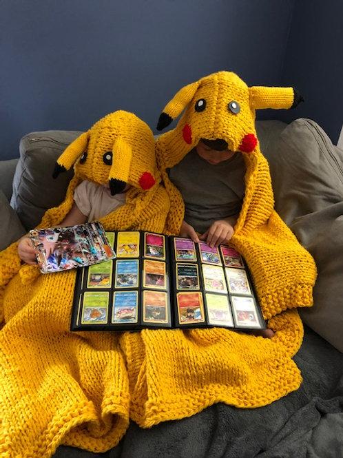 Hooded Pikachu  Blanket Pattern