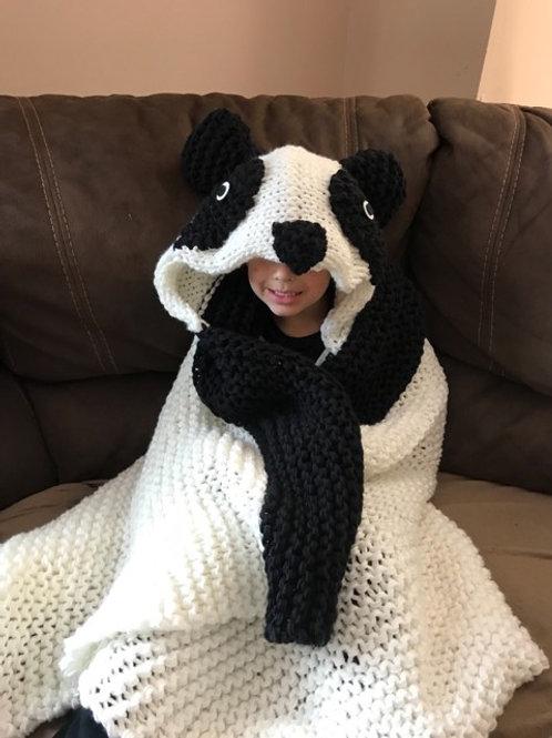 Hooded Panda Blanket Pattern