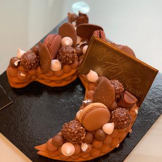 Number Cake cheval au chocolat
