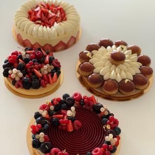 Assortiments de gâteaux