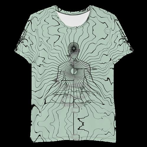 """""""Center"""" Men's Athletic T-shirt Mint"""