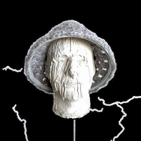 Crochet Hat Silver