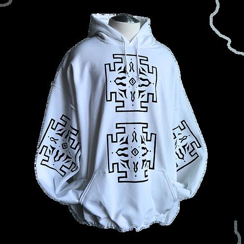 Key tattoo hoodie snow