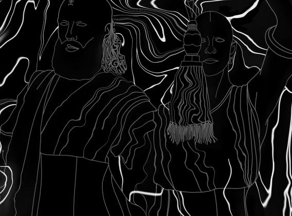 Return to the Well - LVDF x SYZYGY (Album Art B&W))