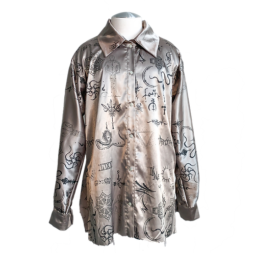 Tattoo Satin button down