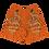 """Thumbnail: """"Center"""" Athletic Shorts orange"""