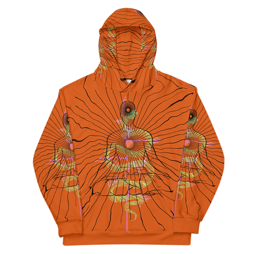 """Center"" orange Unisex Hoodie"