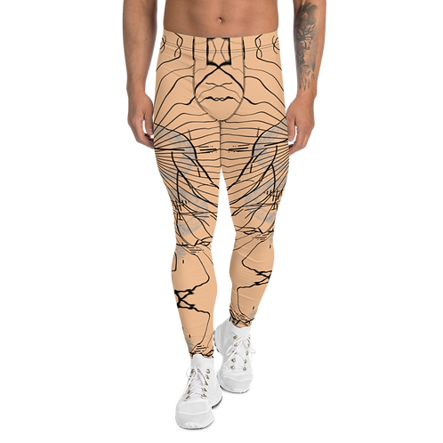"""Center"" Men's Leggings taupe"