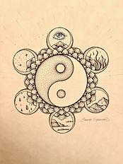 Yin and Yang drawing by Samantha Shackelford