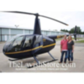 Helicopter tours at The LAVISH Store! Ww