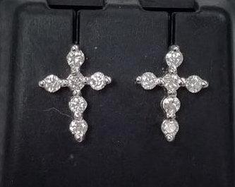 Cross Diamonds Earrings