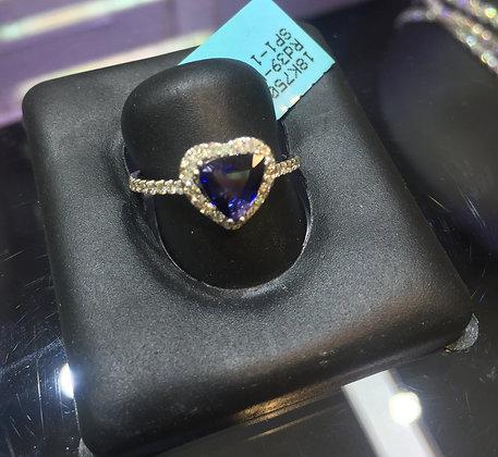 Sapphire Heart Shape Diamond Ring