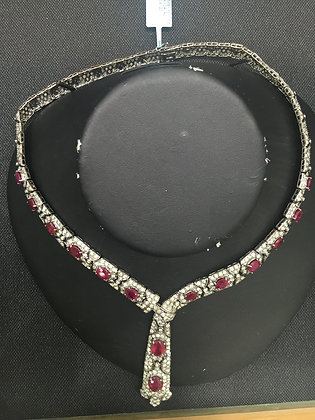 紅寶石鑽石項鍊