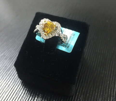 Fancy Yellow Heart Shape Diamond Ring