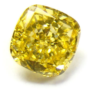 (#3261)    1.01 Carat Fancy Yellow Asscher