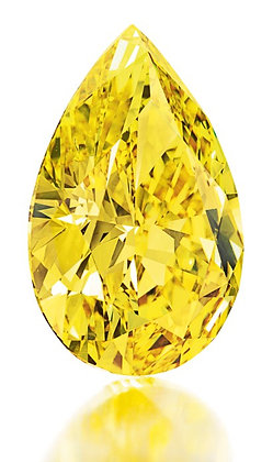 (#3177)    1.01 Carat Fancy Yellow Pear