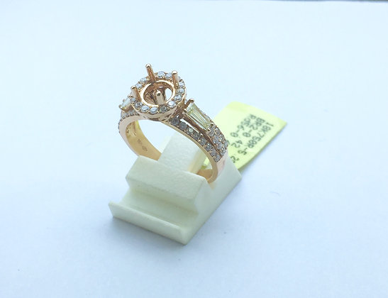 Rose Gold 18 K Gold Diamond Rings