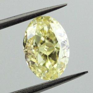 (#3599)    1.09 Carat Fancy Yellow VVS 1
