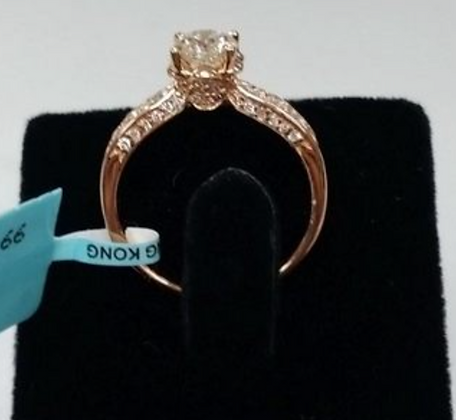 1. 20 Rose Gold Diamond Ring