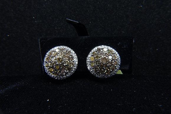 18K750 Gold Diamond Ear Rings