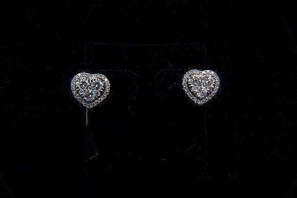 Heart Shape Diamond Ear Rings