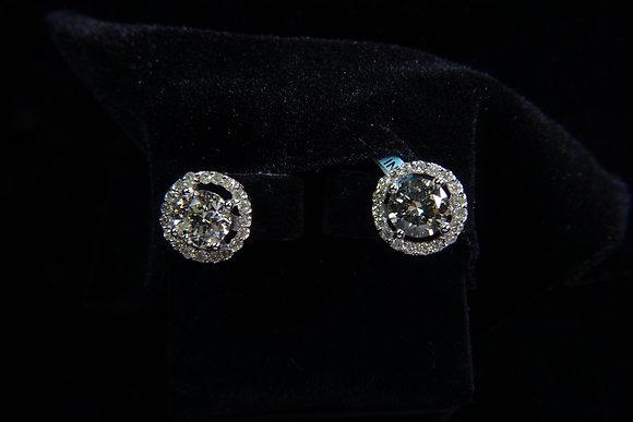 18 K Gold Diamond Ear Rings