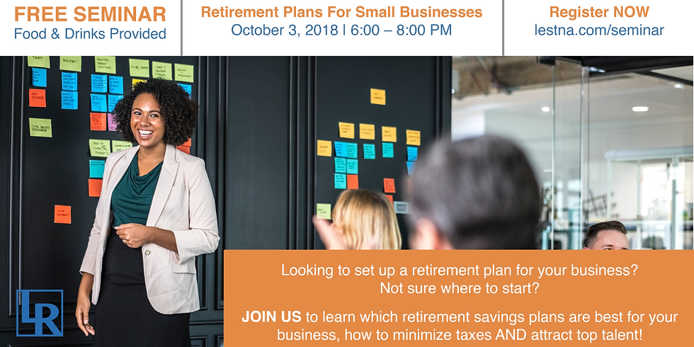 Seminar: Retirement Plans For Small Businesses